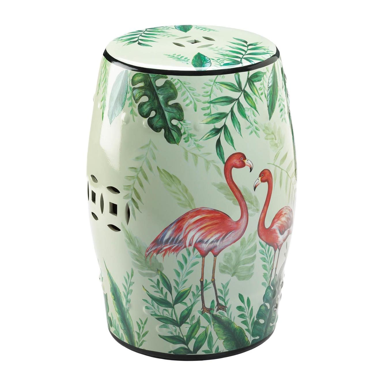 Decorative Stool-Indoor-Patio Use-Flamingo