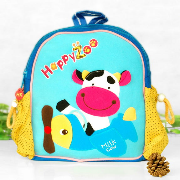 Children's Backpack-School-Outdoor-Daypack-9.0x9.8x2.7-Flying Cow