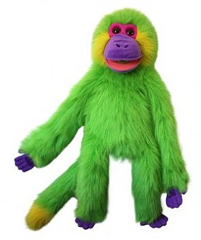 Animal Puppet-Brite Vivid Green-Magic Monkey