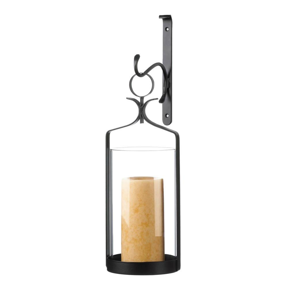 Wall Sconce-Hanging-Hurricane Glass-Cozy Home
