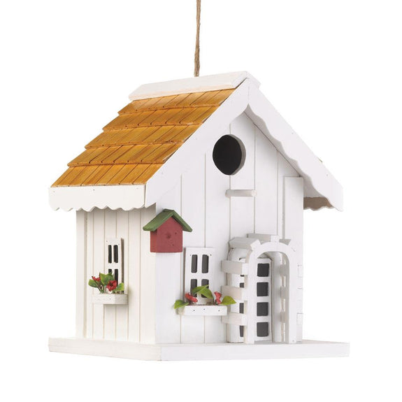 Birdhouse-Wood-Happy Home-Loving Nature