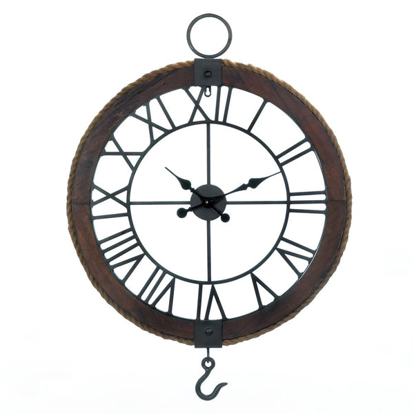 Wall Clock-Modern-Industrial-Round