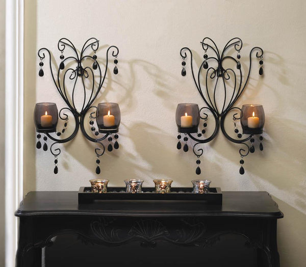 Wall Sconce-Set of 2-Midnight Elegance