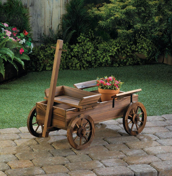 Garden Planters-Old World Wagon-The Rustic Look