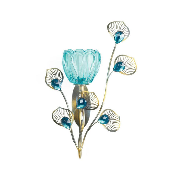 Wall Sconce-Single-Peacock Blossom