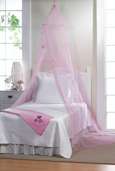 Bed Canopy-Pink Butterflies