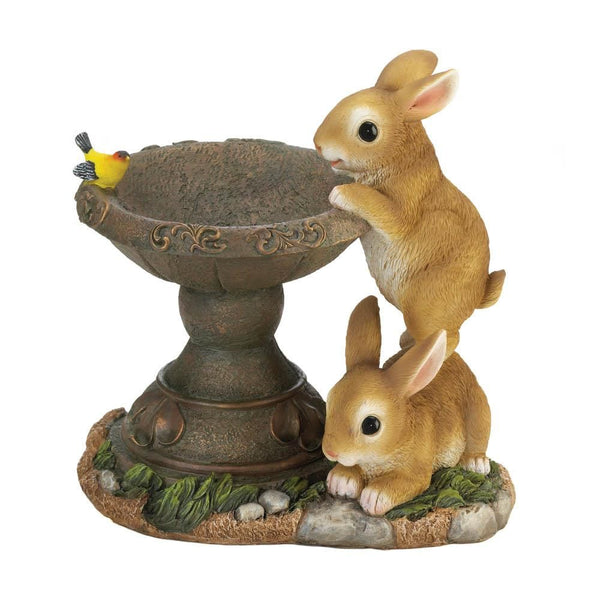 Bird Feeder-Playful Bunnies-Nature Lover
