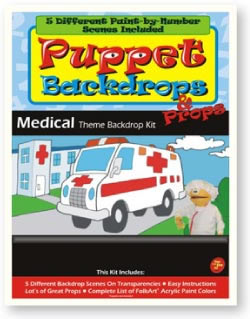 Puppet-Backdrop Kit-Medical Theme