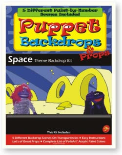 Puppet-Backdrop Kit-Space Theme