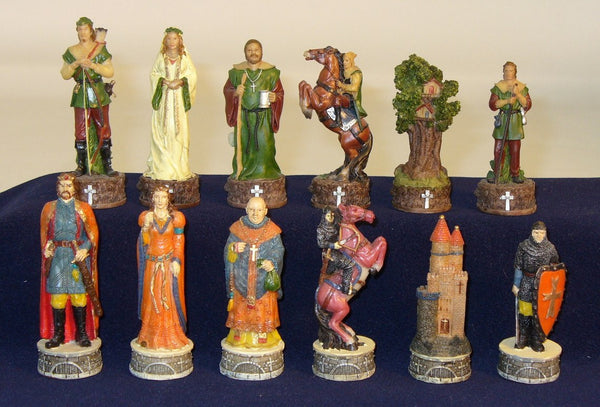 Robin Hood Painted Resin Chessmen - Seasonal Expressions