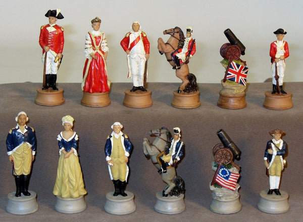 Revolutionary War; Americans vs British Chessmen - Seasonal Expressions