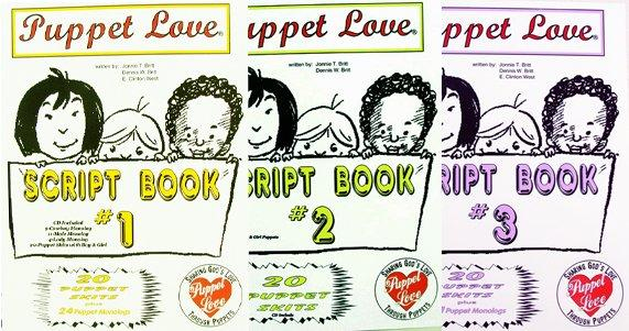 Puppet Scripts-Ministry-Puppet Love -Books 1-2-3 Set