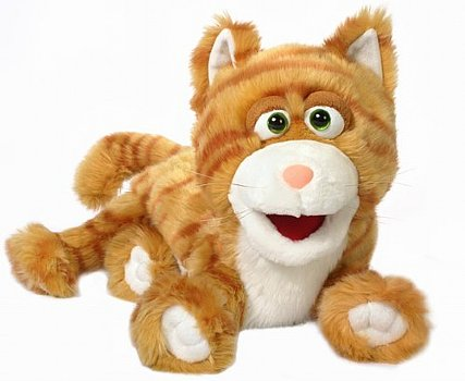 Animal Puppet-Silly Orange Kitty