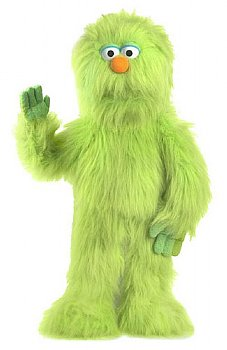 Puppet-Monster Hand Puppet with Rod-Big Green