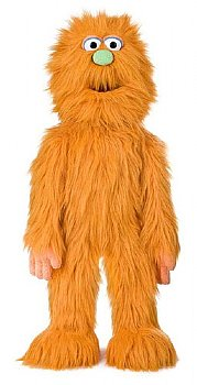 Puppet-Monster Hand Puppet with Rod-Big Orange
