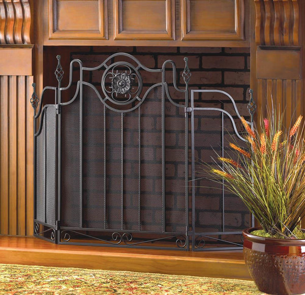 Fireplace Accessories-Screen-Tuscan Design