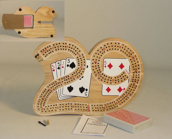 29 Cribbage-3 Player-Card Storage-Metal Pegs - Seasonal Expressions - 1