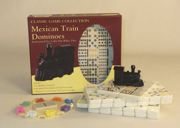 Mexican Train Double Color Dot Dominoes - Seasonal Expressions