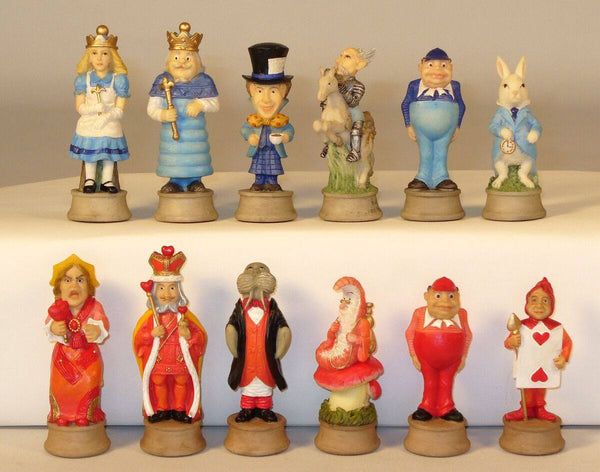Alice In Wonderland Painted Resin Chessmen - Seasonal Expressions