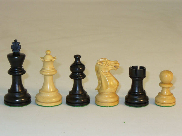 Chessmen-Boxwood-Black American Emperor