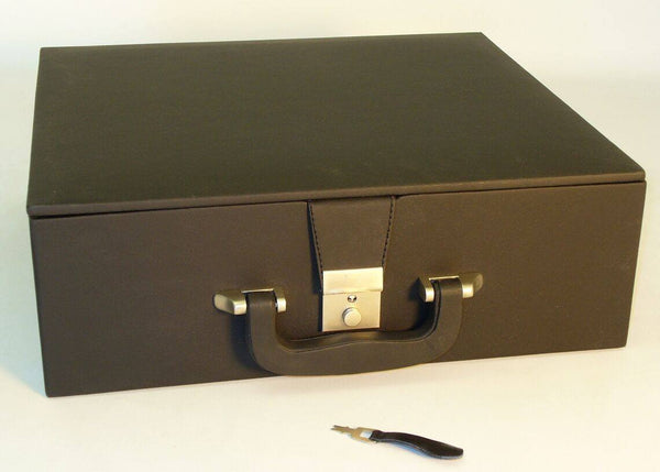 Large Black Vinyl Over Wood Chessmen Box - Seasonal Expressions - 1