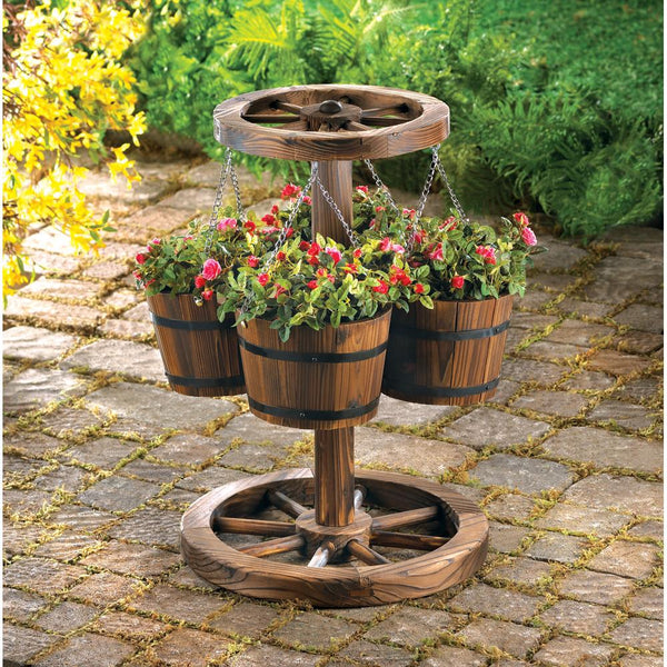Garden Planter-Wagon Wheel-Nature Lover