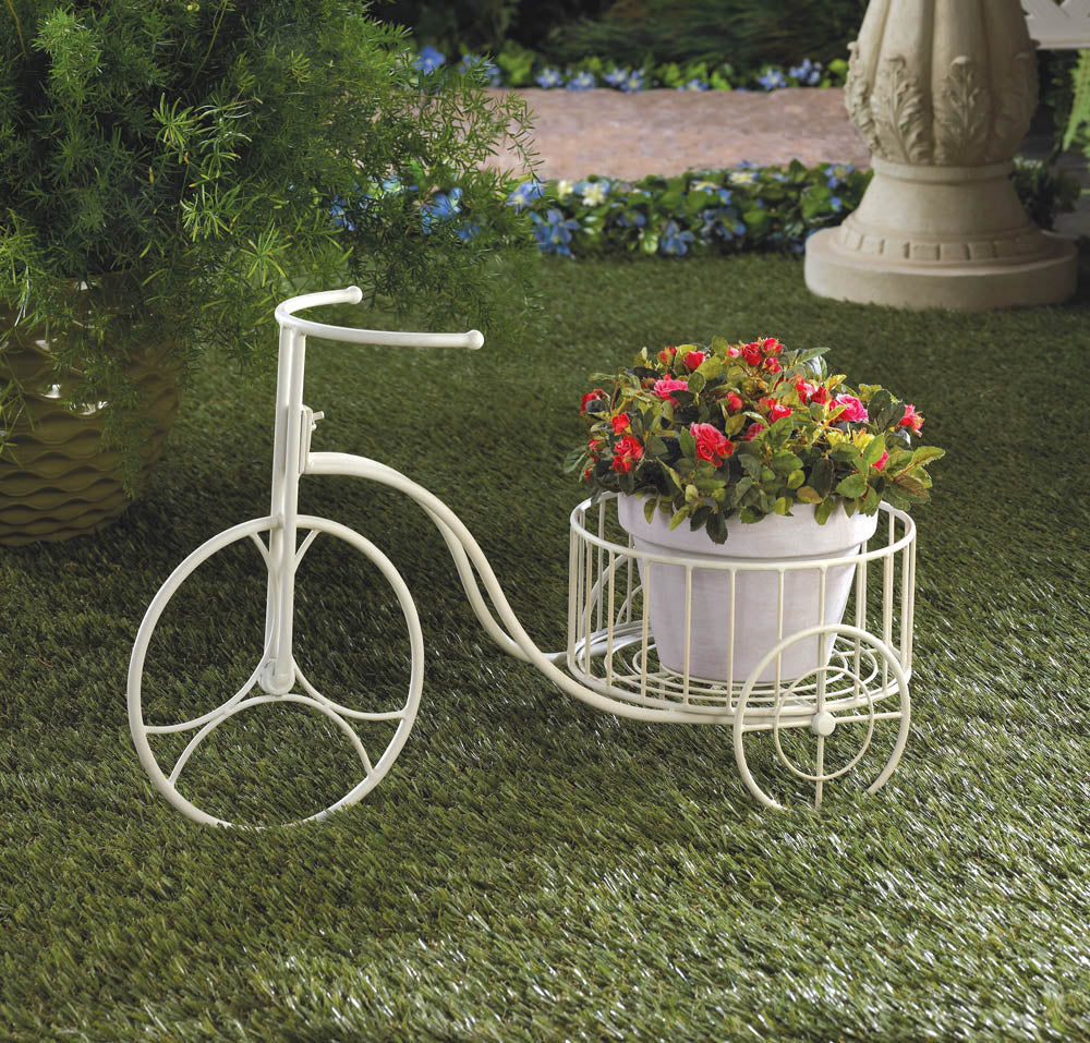 Garden Planter-White Tricycle-Nature Lover