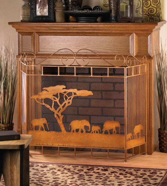 Fireplace Accessories-Screen-Wild Savannah