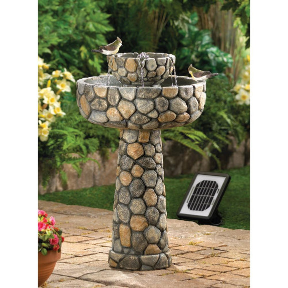 Garden Fountain-Solar-Wishing Well-Nature Lover
