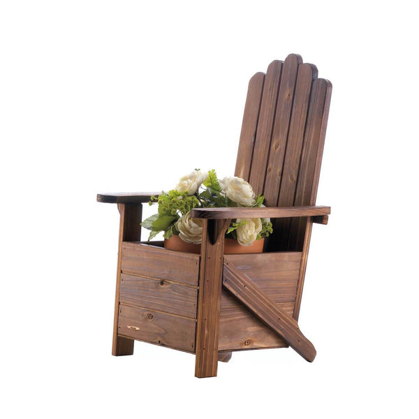 Garden Planter-Wooden Adirondack Chair