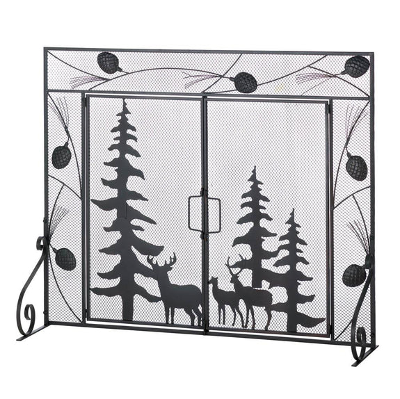 Fireplace Screen-Woodland Forest