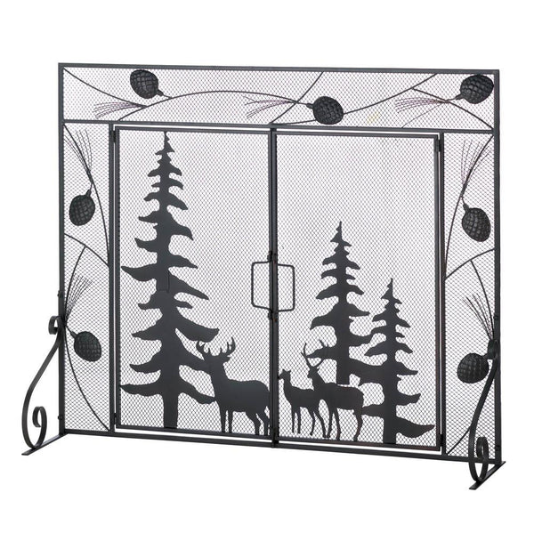 Fireplace Accessories-Screen-Woodland Forest
