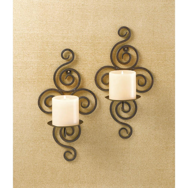 Wall Sconces-Scrollwork Pair-Cozy Home