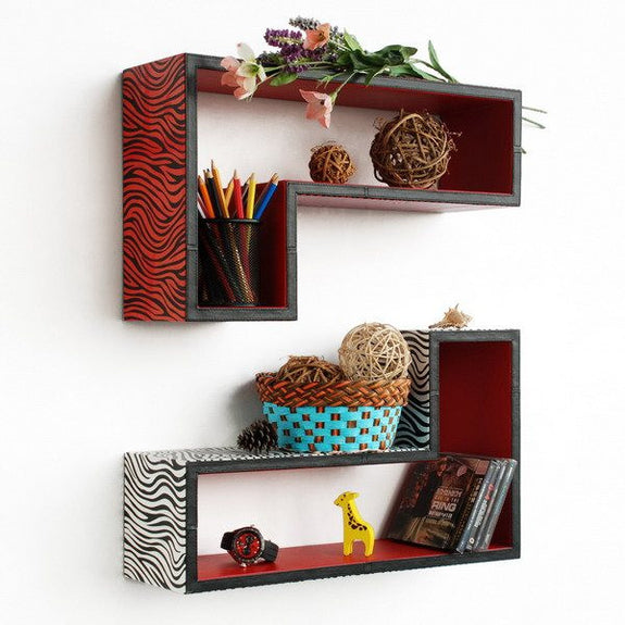 Gun-Shaped Wall Shelves; Trista, Set of 2 - Seasonal Expressions - 1