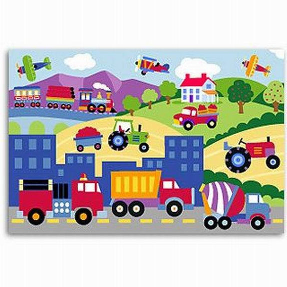 """Trains, Planes and Trucks"" Unframed Art Print for Children - Expressions of Home"
