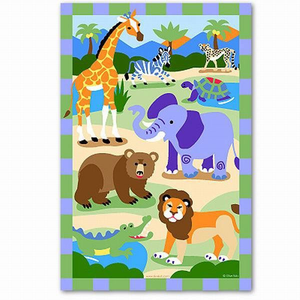 """Wild Animals"" Unframed Art Print for Children - Expressions of Home"