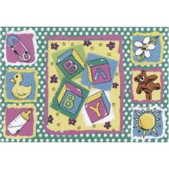 Kid's Rug-39 x 58-Building Blocks