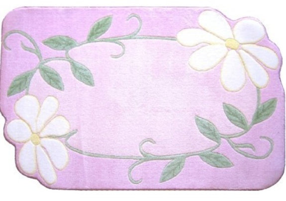 Rug-Cozy Home-39 x 58-Pink Daisy