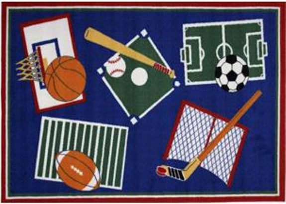 Kid's Rug-39x58-Sports A Rama-Babies and Children-Kids Decor