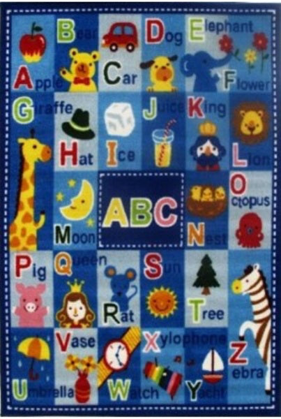 Kid's Rug-39 x 58-Letters and Names-Kids Decor