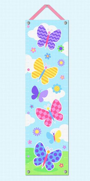 Growth Chart-Butterfly Garden-Babies and Children-Kids Decor