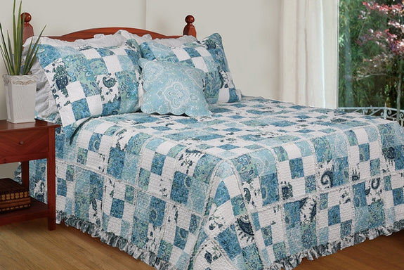 Bed Linen-2 Piece Quilt Set-Twin-Full-Queen-King-Calypso