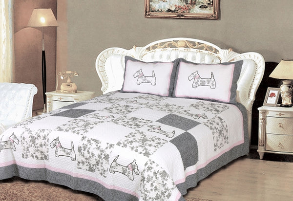 Bed Linen-Quilt Set-Full-Queen-Yorkshire Terrier