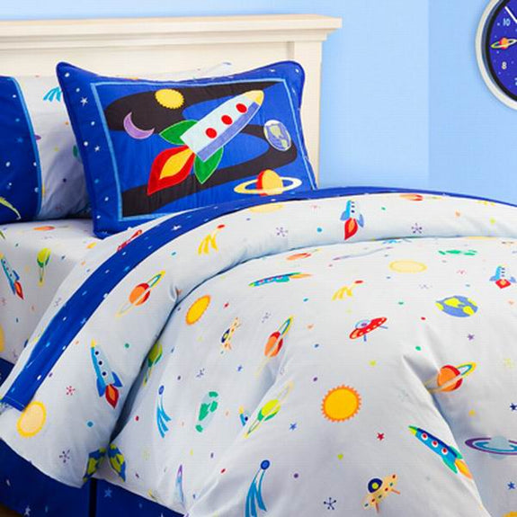 Bed Linen-Twin-Comforter-Sheet Set-The Kids Collection-Out of This World