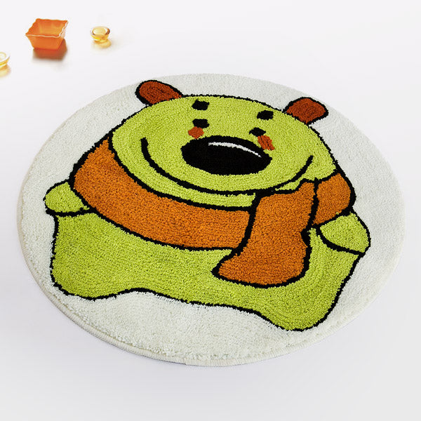 Kid's Rug-23.6x23.6-Naomi-Green Bear