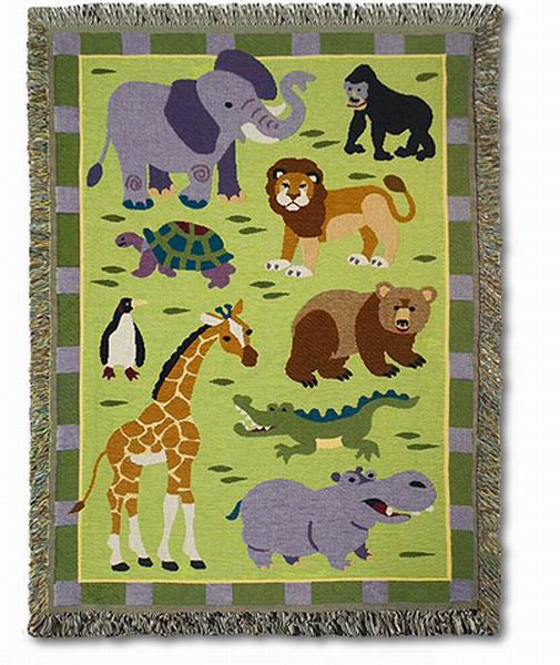 Throw Blanket-Wild Animals-Babies and Children