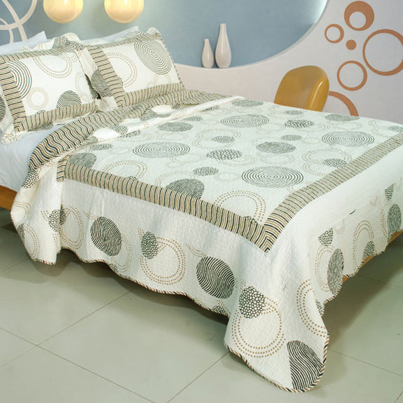 Bed Linen-Quilt Set-Full-Queen-Circle Style
