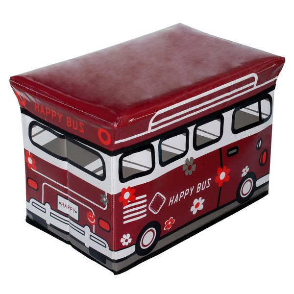 The Kids Room-Storage-Ottoman-Red-Happy Bus