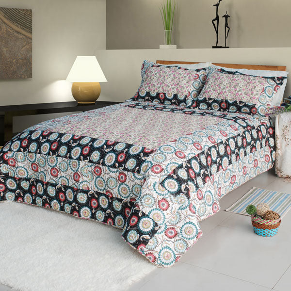 Quilt Set-Bed Linen-3 Piece King-OR-2 Piece Twin-Alice and Flower