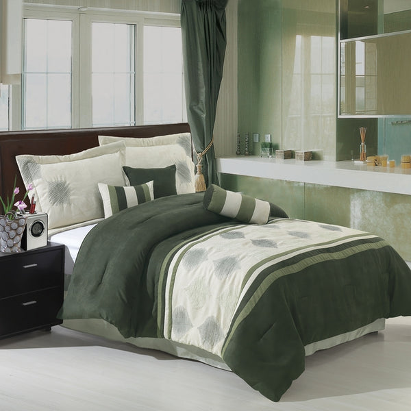 Bed Linen-Comforter Ser-Queen-Grace Sage